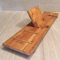 Rustic wood bath tray wooden bath tray bath caddy tablet