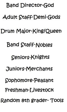 The Band Geek lineage