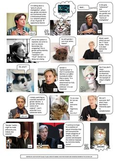 """Judith Butler's """"Gender Performativity"""" Explained  (2 of 2)  [click on this image to find a short clip, which can be drawn on to illustrate gender performativity theory]"""