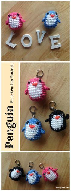 Penguin Keyring Amigurumi Free Crochet Pattern