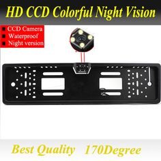 170 Degree Universal Car Number Plate Parking Camera Rear View Cam Kit 8LED IP65