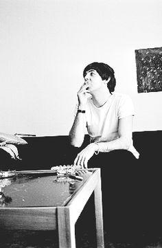 Paul McCartney at Foresta Hotel in Stockholm, Sweden - July 28 1964