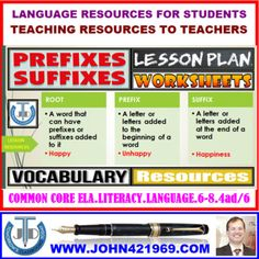 This resource contains everything you need to get going with Prefixes and Suffixes in your classroom. Learning Objectives: • Define a prefix and a suffix. •Differentiate between prefixes and suffixes. •Demonstrate the use of prefixes and suffixes with root words in writing.