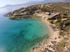 Loutraki Beach Crete from above