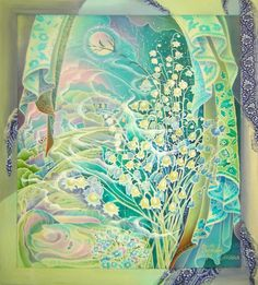 Batik by Russian artist Elena Shirokova