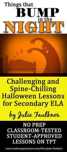 Halloween Lessons for High School ELA | Poetry, Short Stories, and More