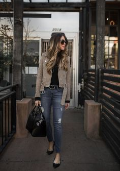 The Suede Jacket I Bought in Two Colors | The Teacher Diva: a Dallas Fashion Blog featuring Beauty & Lifestyle