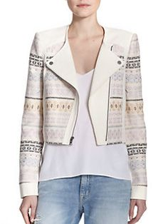 Saks Fifth Avenue Mobile Street Look, Jacket Pattern, Knit Jacket, Winter Wardrobe, Autumn Fashion, Cute Outfits, Clothes For Women, Denim, My Style