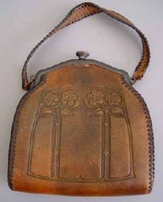 cde7fddb24 Arts and crafts leather purse Tooled Leather Purse