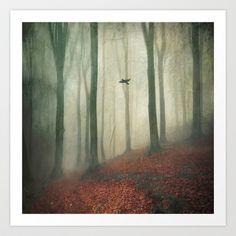 silent wings Art Print by Dirk Wuestenhagen Imagery - $17.00