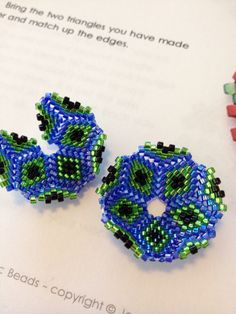 Beaded beads pattern by Jean Power.  Clever beaders could figure this out with this pic.