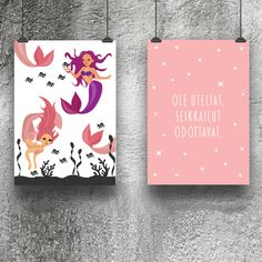 merenneito, mermaids, fish, sea, ole utelias, kids room, kids interior, nursery room, kids