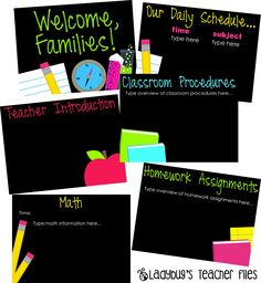 Open House. Curriculum Night. editable powerpoint. {free}