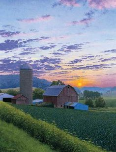 Dairyland Summer Sunset-Farm Art Print by Steven R. Kozar | Wild Wings