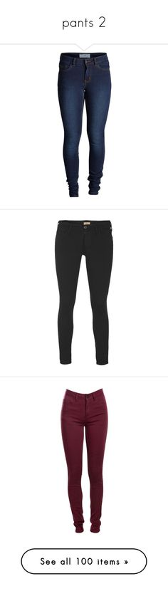 """pants 2"" by shadow-jaeger ❤ liked on Polyvore featuring pants, leggings, jeans, bottoms, spodnie, dark blue denim, denim pants, blue denim pants, five pocket pants and denim leggings"