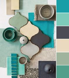 COLOR, COLOR PALETTES, COLOR THEORY, AQUA, TURQUOISE, GRAY, CHARCOAL, CREAM, IVORY, JADE