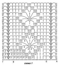Crochet Stitches Chart, Crochet Motifs, Crochet Borders, Crochet Diagram, Crochet Doilies, Crochet Lace, Free Crochet, Crochet Dresses, Lace Patterns