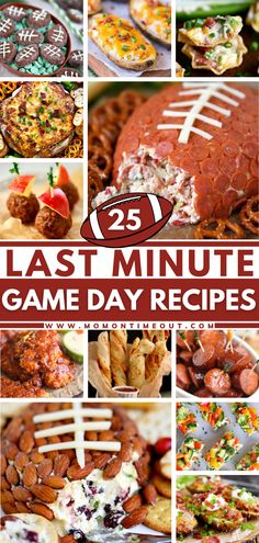 Scrambling for quick and easy game day food at the last minute? These recipes got you covered! From appetizers, snacks, dinners, and even desserts — you can find them all here. All you need are a few ingredients, and you are good to go. With 25 options to choose from!