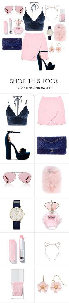 """""""Untitled #14"""" by sajashraim ❤ liked on Polyvore featuring Carven, Steve Madden, Chanel, Oliver Peoples, Wild & Woolly, ROSEFIELD, The Hand & Foot Spa and LC Lauren Conrad"""