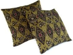 ikat pillows - etsy $45 for 2