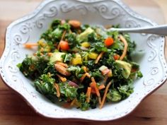 Kale Rainbow Detox Salad with Lemon Vinaigrette {vegan, gluten free} - Ambitious Kitchen