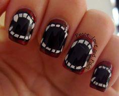 Peace, Love & Polish:  Halloween  Werewolves! #nail #nails #nailsart