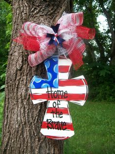 Fourth of July Fireworks Door hanger by BluePickleDesigns on Etsy, $45.00