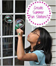 Create & Organize Summer Fun Stations