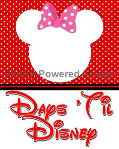 Minnie Mouse Disney Trip Countdown by AbilityPoweredDesign on Etsy