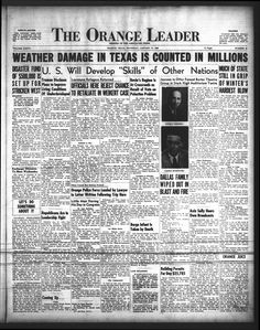 Daily newspaper from Orange, Texas that includes local, state and national news along with extensive advertising.