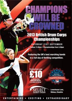 British Drum Corps Championship at Select Security Stadium WIdnes 21st September