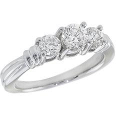 0.80cttw Round Diamond Platinum Engagement Ring