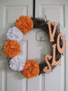 UT Wreath University of Tennessee/VOLUNTEERS by AmysFrontDoorDecor, $35.00