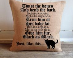 Hocus Pocus Pillow Cover/Come little by OldBarnCrafting on Etsy