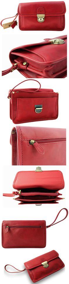 polstas clutch tas tassen bag bags real leather echt leer red rood shop now at Safekeepers
