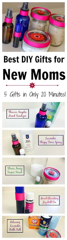 Best DIY gifts absolutely every new mom will love! The best part is you can make all 5 gifts in under 20 minutes!