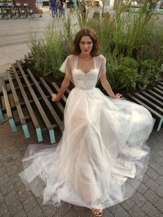Style is an a-line wedding gown that features a beautifully embroidered sweetheart bodice, with butterfly sleeves, and a thing stain belt around the waist. checklist for bride Cosmopolitan City Collection Bridal Fashion - Papilio Boutique Country Wedding Dresses, Dream Wedding Dresses, Modern Wedding Dresses, Different Wedding Dress Styles, Vintage Inspired Wedding Dresses, Garden Wedding Dresses, White Bridal Dresses, Unique Wedding Gowns, Wedding Dress Pictures