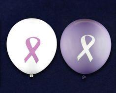 Purple Ribbon Balloons   DOMESTIC VIOLENCE AWARENESS