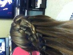 Waterfall braid I did on my friend
