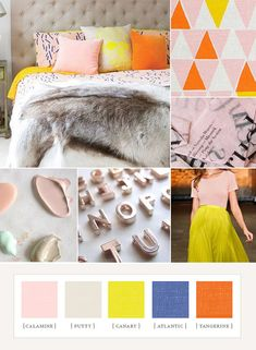 100 Layer Cake spring brights colorboard