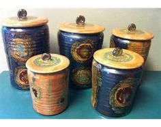 Organic Stripe Canister Sets
