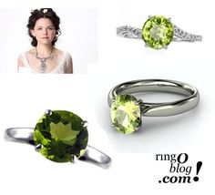 Mary Margaret Blanchard - Ginnifer Goodwin - Peridot Rings - Engagement Ring #rings #jewelry #ouat Once Upon a Time
