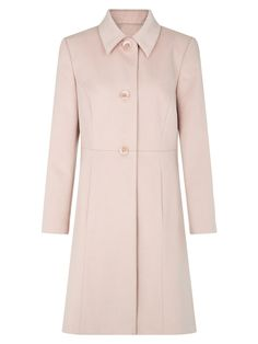 Buy Kaliko Princess Coat, Light Pink from our Women's Coats & Jackets range at John Lewis & Partners. Fit And Flare Coat, Military Style Coats, Cute Coats, Coat Sale, Lace Jacket, Pink Princess, Coat Dress, Feminine Style, Coats For Women