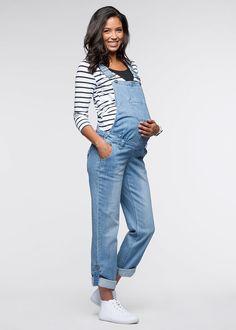 Ogrodniczki ciążowe, proste nogawki • 159.99 zł • bonprix