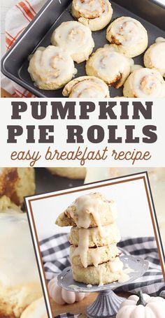 pumpkin pie cinnamon rolls recipe Best Pumpkin Pie, Canned Pumpkin, Pumpkin Bread, Pumpkin Pie Spice, Pumpkin Recipes, Best Cinnamon Rolls, Pumpkin Cinnamon Rolls, Best Bread Recipe, Easy Bread Recipes