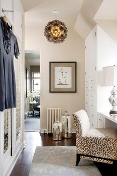 leopard chair with all neutrals. Follow us at www.birdaria.com. Love it, like it, pin it!! .