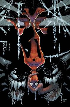 ✭ Spider-Man & Venoms by Skottie Young