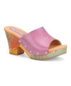 Take a look at this Lavender Helen Leather Slide by Korks by Kork-Ease on #zulily today!