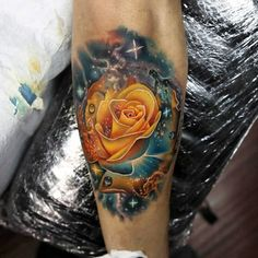 Even the truest love is not without its thorns. Discover the top 50 best badass rose tattoos for men. Explore cool flower designs and body art ideas. Badass Tattoos, Cute Tattoos, Beautiful Tattoos, Body Art Tattoos, Hand Tattoos, Sleeve Tattoos, Tatoos, Yellow Rose Tattoos, Rose Tattoos For Men