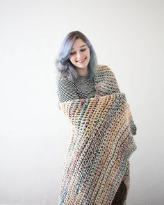 The beautiful MacKenzie blanket modeled by my beautiful friend Gabby  I love everything about this blanket from the colors to all the cozy it's perfect  this blanket along with others are now available for purchase in my Etsy store! Shop link in the bio   #etsy #etsyshop #etsyseller #etsyshopowner #imakeawesomethings #crochet #crocheter #etsycrochet #crochetblanket #blanket #love #diy #ashleyjostitches by ashleyjostitches